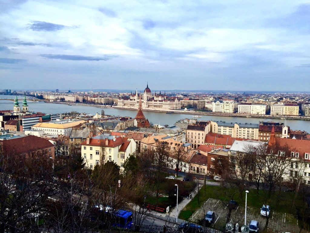 View over Budapest from Castle Hill