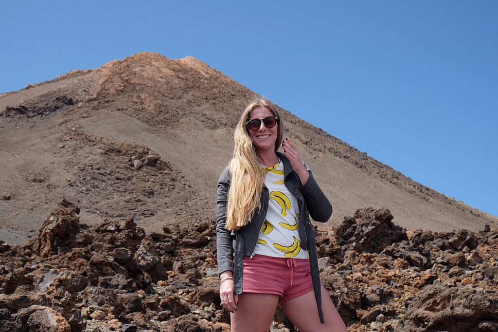 Food Goblin up Mount Teide in Tenerife